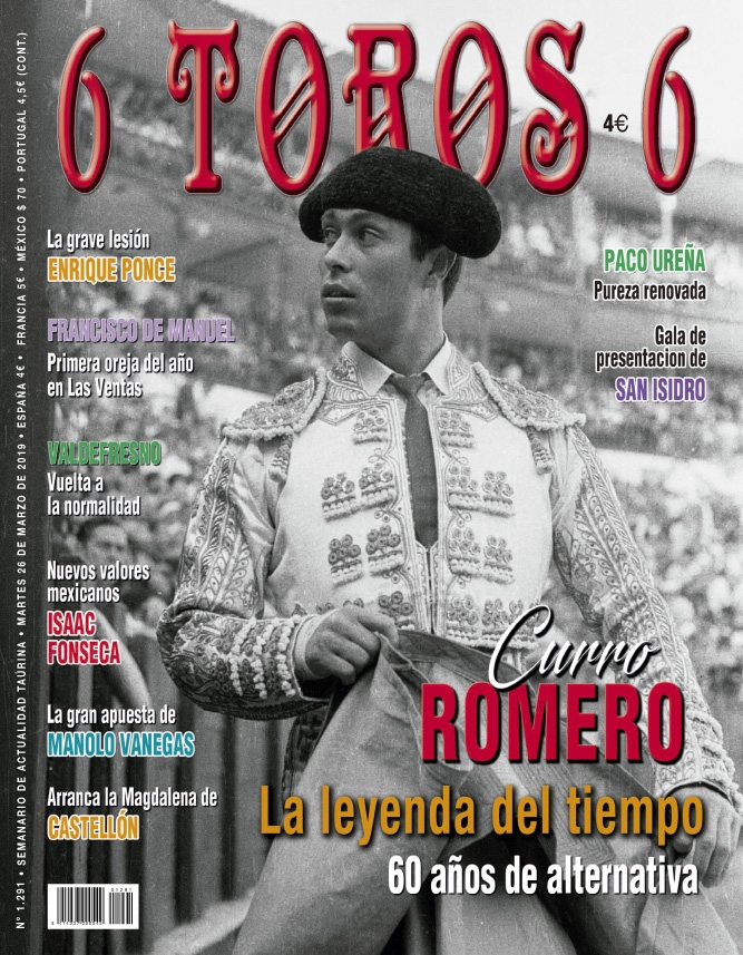 Curro Romero portada de 6Toros6 - Burladero TV